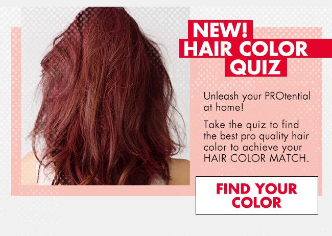 Hair Color Quiz / Find Your Color