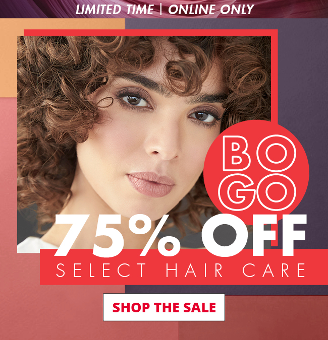 BOGO 75% OFF SELECT HAIR CARE